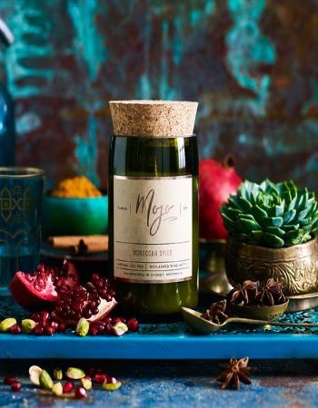 Mojo Wine Bottle Candle - Moroccan Spice