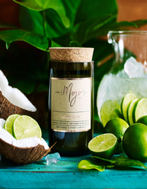 Mojo Wine Bottle Candle - Coconut & Lime