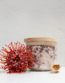Relaxing Rose Bath Salts in Canister